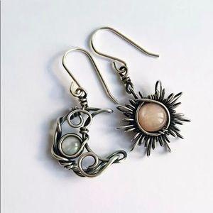 """""""Bohemian Twist"""" Vintage SunMoon Wire-Wrap Earring"""